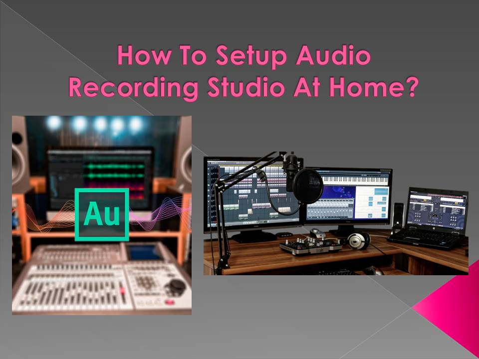 audio recording studio at home