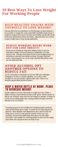 weight lose for working people