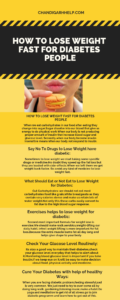 How to lose weight for diabetes people